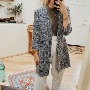 Lafayette 148 Abstract Button Front Blazer